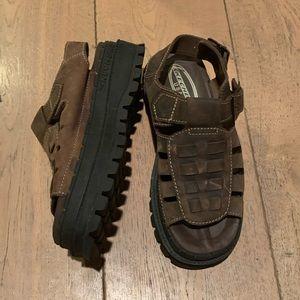 SKECHERS vintage platform brown fisherman sandal 7